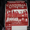 Cannibal Corpse - Other Collectable - CANNIBAL CORPSE / KRABATHOR - Original Poster from the European Tour 1998