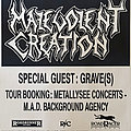 Malevolent Creation - Other Collectable - MALEVOLENT CREATION / GRAVE - Original Tourposter 1991 - Size A2