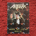 Anthrax among the living tour programme 1987