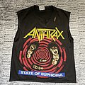 Anthrax state of euphoria shirt 1988-1989