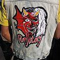 Iron maiden purgatory painted denim vest