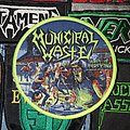 Municipal Waste - Patch - Municipal Waste The Art Of Partying Patch (Yellow Border)