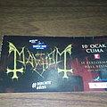 Mayhem 10 January 2020 signed ticket