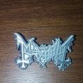 Mayhem metal pin