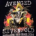 Avenged Sevenfold Hail To The King Tour Brazil 2014 Shirt