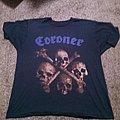 """Coroner """"No More Color"""" 1990 tour shirt"""