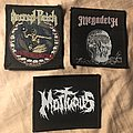 Sacred Reich, Megadeth, Mortuous patches