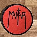 Mantar red round logo patch