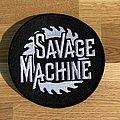 Savage Machine round logo patch