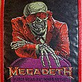 Megadeth - Patch - Megadeth Peace Sells Red Border Patch