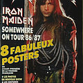 Iron Maiden - Other Collectable - Hard Rock Magazine, Iron Maiden, Somewhere on Tour 1986-1987