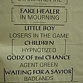 Metal Church - Other Collectable - MC - Setlist