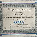 Skyclad - Other Collectable - Skyclad - 'Folkemon' t-shirt certificate