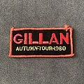 Gillan - Patch - Gillan Autumn Tour 1980 patch