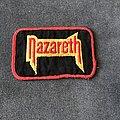 Nazareth - Patch - Nazareth red border logo patch