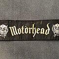 Motörhead - Patch - Motörhead logo and snaggletooth strip patch