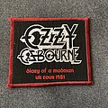 Ozzy Osbourne - Patch - Ozzy Osbourne - Diary of a Madman UK Tour patch