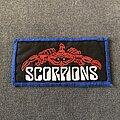 Scorpions - Patch - Scorpions blue border logo patch
