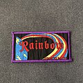 Rainbow - Patch - Rainbow Down to Earth purple border patch