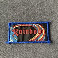 Rainbow - Patch - Rainbow Down to Earth blue border patch
