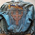 Judas Priest Screaming For Vengeance - 90's Hand Embroidered Long-Sleeve Denim Jacket