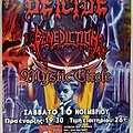 Deicide Benediction Mystic Circle - 16.11.2002 Official Concert Poster