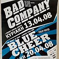 Bad Company Blue Cheer Violet Vortex - 13 & 20.04.2008 Official Concert Poster Other Collectable