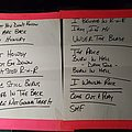 Twisted Sister - 2005 Official Reunion World Tour Concert Setlist Other Collectable