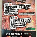Sex Pistols New York Dolls Massive Attack - 15 & 16.07.2008 Official Concert Poster Other Collectable