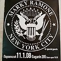 Marky Ramone - 11.01.2008 Official Concert Poster Other Collectable