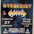 Hypocrisy Sinister - 27.04.? Official Concert Poster Other Collectable