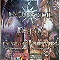 Tiamat Lacuna Coil Deviser - 28.02.2003 Official Concert Poster Other Collectable