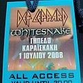 Def Leppard / Whitesnake - Official Athens All Access Backstage Pass 2008