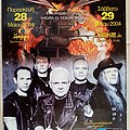 U.D.O. - 28 & 29.05.2004 Official Thunderball World Tour Concert Poster Other Collectable
