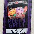 Helloween Meet & Greet - Official 7 Sinners World Tour Silkscreen Print Sticker Other Collectable