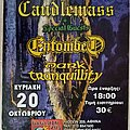 Candlemass Entombed Dark Tranquility - 20.10.2002 Official Concert Poster Other Collectable