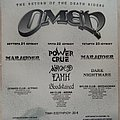 Omen Dark Nightmare Marauder Power Crue Airged L'Amh Bloodstained - 21-23.06.2004 Official Concert Poster Other Collectable