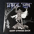 Lethal Saint Saint Strikes Back - 2011 EP LIMITED EDITION With Sticker SIGNED Tape / Vinyl / CD / Recording etc