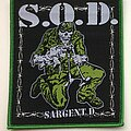 S.O.D. - Patch - S.O.D - Sargent D Bootleg Woven Patch