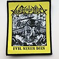Toxic Holocaust - Patch - Toxic Holocaust - Evil Never Dies Bootleg Woven Patch