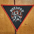 Bathory Triangle Red Border Woven Patch
