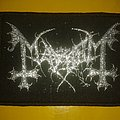 Mayhem logo with silver glitter ( vintage ) Patch