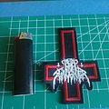 Nunslaughter - Patch - Upside down cross