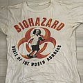 Biohazard shirt DOA 1995 with signatures