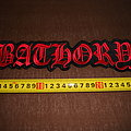 Bathory - Patch - Bathory - logo embroidered back patch