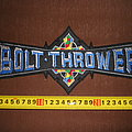 Bolt Thrower - Patch - Bolt Thrower - logo embroidered backpatch