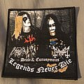 Mayhem - Patch - Dead and Euronymous legends never die woven patch