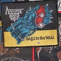 Accept - Patch - Accept Balls to the wall black border patch