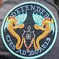 Defender - Patch - Defender city ad mortis blue border circular patch
