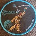 Quartz - Patch - Quartz stand up and fight blue border circular patch